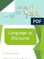 Language as Discourse FINAL