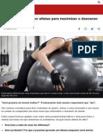 8 técnicas usadas por atletas para maximizar o descanso durante o sono - BBC News Brasil
