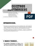 Registros Neutrónicos