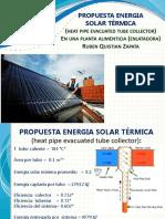 Uso de energia solar en una planta enlatadora de alimentos.