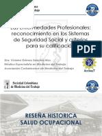 RECONOCIMIENTO EN LOS SISTEMAS SDE SEGURIDAD SOCIAL Y CRITERIOS DE CALIFICCION DRA. VIVIANA GOMEZ.pdf