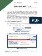 Panduan Mendapatkan PIN SIAM 3.0 Dokumen Laman Infokom Mei 2016