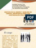 diseño y análisis de cargos