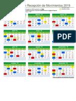 Calendario Anual 2019 Movimientos