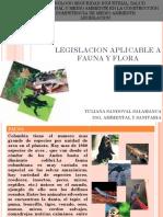 Legislacion Aplicable a Fauna y Flora