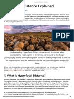 Hyperfocal Distance Explained