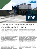 Manufactured Sands Plant Sri Lanka