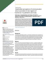 Community Perceptions of Vaccination