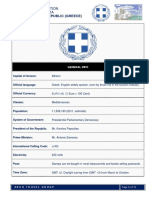 Essential Information & Demographic Data of Greece
