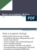 basic academic writing