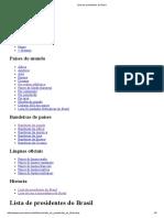 Lista de Presidentes Do Brasil