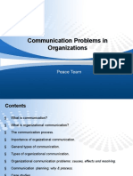 Communicaton Problem in Organization