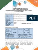 Guia de Actividades y Rubrica de Evaluacion - Fase 2 - Formular El Proyecto Del Grupo