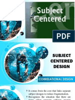 Subject Centered - Correlational Design