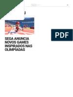 Sega Anuncia Novos Games Inspirados Nas Olimpíadas - IGN Brasil