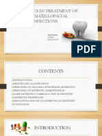 Antibiotics in Treatment of Oral Maxillofacial Infections