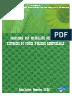 Glossaire Des Materiaux Composites Renforces de Fibres d Origine Renouvelable
