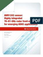 AWR1243 sensor