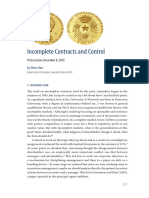 Incomplete Contracts and Control