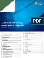Australian Officiating Development Schedule