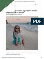 Terapia Cranio Sacral i Pierderea Total a Diagnosticului de Autism Acas La Daniela