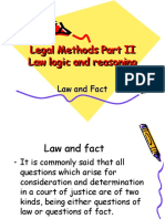 Law n Fact,Precedent,Logic n Reasoning