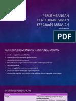 Perkembangan pendidikan zaman kerajaan abbasiah.pptx