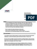 Titus Thankachan 2018 Biodata PDF