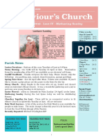 st saviours newsletter - 31 march 2019