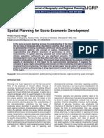 Spatial Planning for Socio-Economic Development