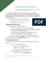 Edu 01 2018 10 Training Reminders and Programme