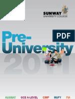 Pre-University - Sunway University College 2011