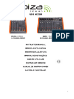 Manual utilizator mixer Ibiza MX-401USB