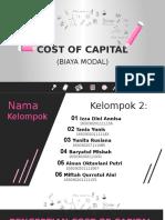 Cost of Capital (Biaya Modal)