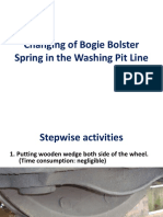 Changing of Bogie Bolster and Dashpot Spring