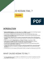 why kodak fail