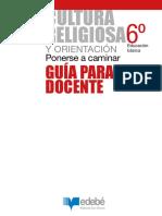 Cultura Religiosa 6 Guía