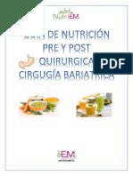 Guía de Nutrición Pre y Post Quirurgica Cirgugía Bariatrica Pcte Geovanny Armijos