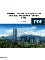 20150811 Informe Catastro de Proyectos de Inversión Privada en Turismo 2013