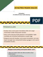 manajemen nutrisi pada pasien hd