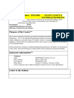 RCO-IENG3002 Plant Layout Materials Handling