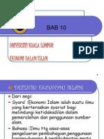 Bab 10 Definisi Ekonomi Islam
