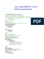 Multiple Access using CDMA for 2 users in Additive White Gaussian Noise.docx