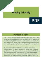 3. Reading Critically