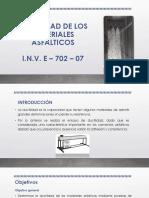 Ductilidad , Punto de Ablandamiento, P, IP