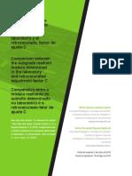 """Comparación Entre El Módulo Resiliente de La Subrasante Determinado en Laboratorio y El Retrocalculado – Factor de Ajuste """"c"""""""