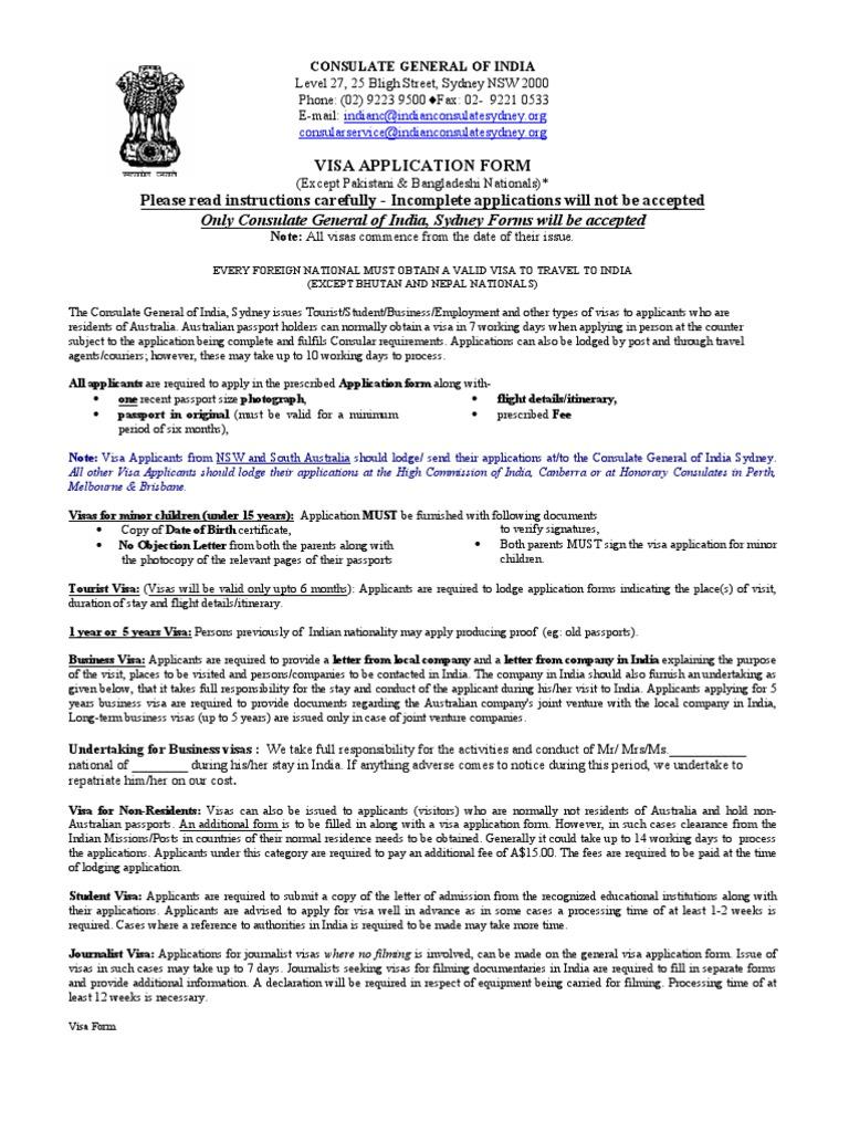 Visa form General | Travel Visa | Pport Application Form Australian Pport on