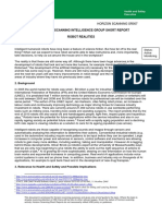 HORIZON SCANNING INTELLIGENCE GROUP SHORT REPORT
