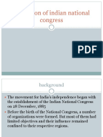 Formation of Indian National Congress
