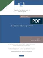 Eurobarometer Autumn 2018